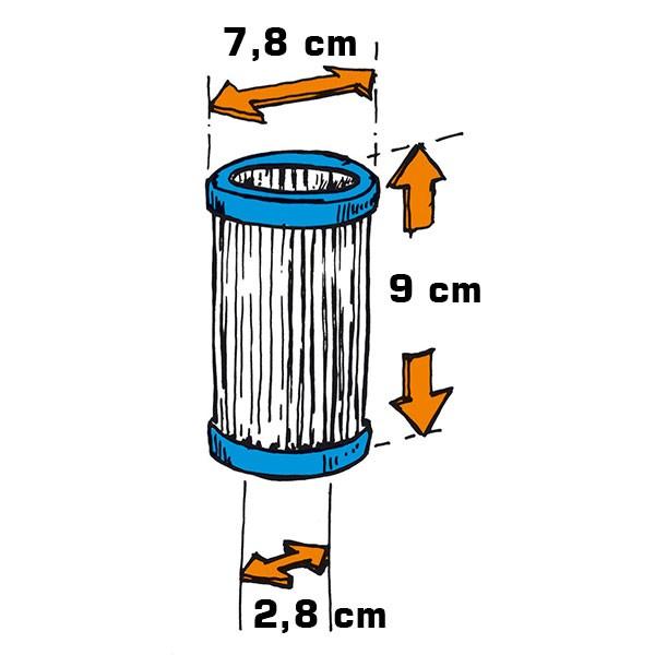 Filterkartusche Flowclear 1/25 HP, 2er-Pack